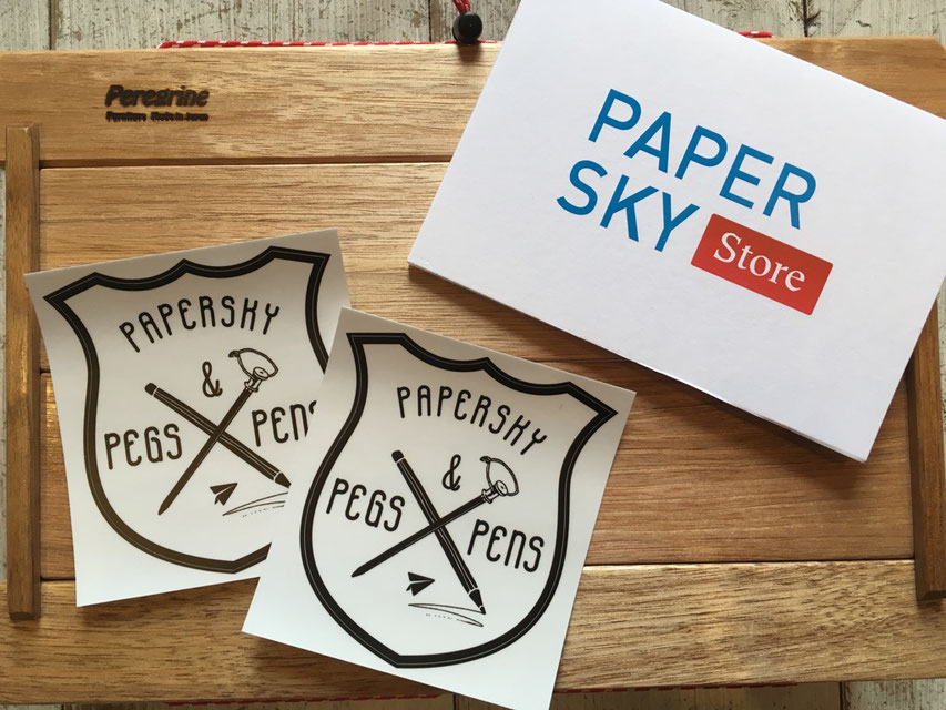 PAPERSKY(ペーパースカイ) ペグ&ペンステッカー ¥432(税込)