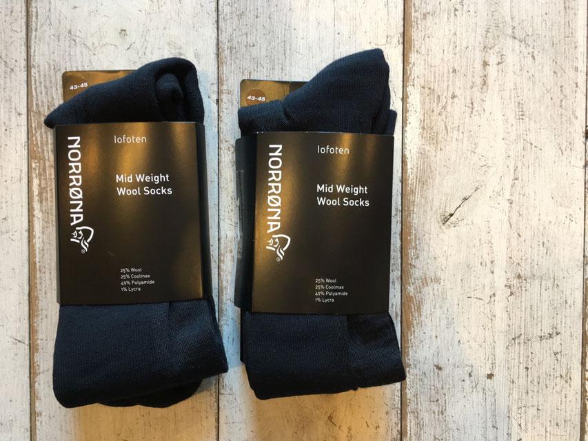 NORRONA(ノローナ) lofoten wool midweight Socks 各¥3,888(税込)