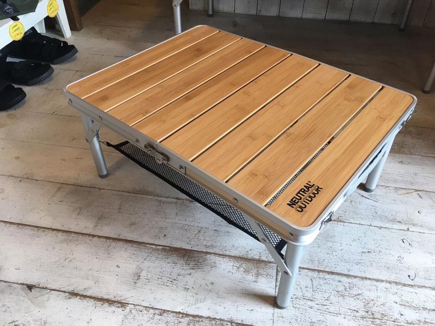 NEUTRAL OUTDOOR(ニュートラルアウトドア)バンブーテーブル M2 ¥7,000(+TAX)