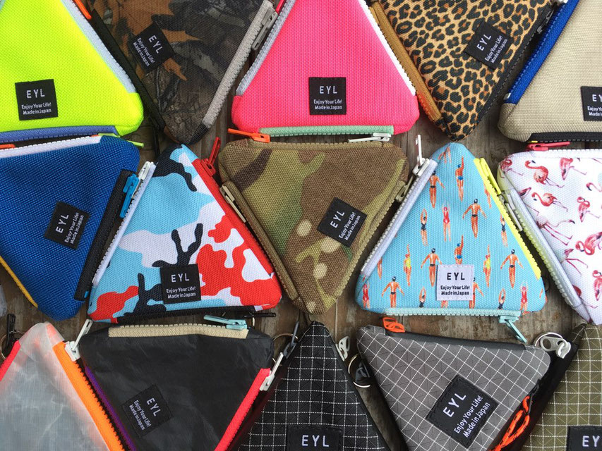 EYL(Enjoy Youre Life!)Traiangle Coin Purse 各¥3,000~3,500(+TAX)