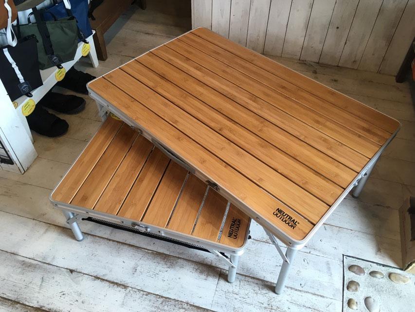 NEUTRAL OUTDOOR(ニュートラルアウトドア) バンブーテーブル L ¥9,000(+TAX)