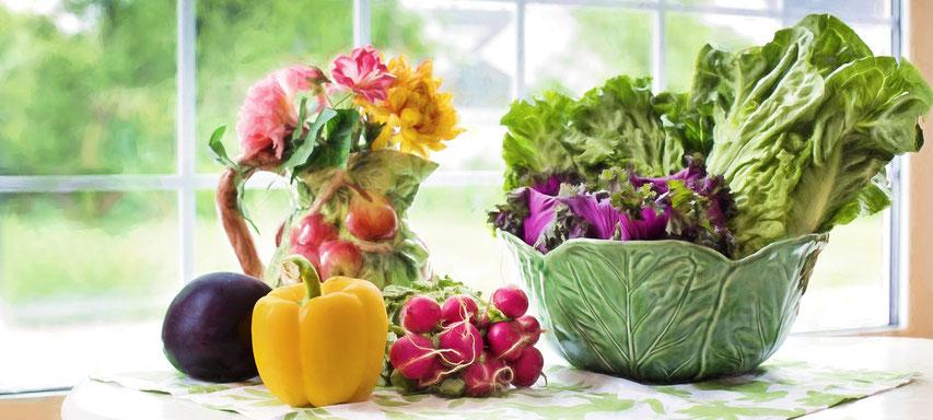 Frisches Obst und Gemüse für die gesunde Ernährung