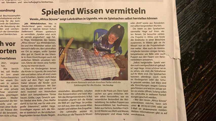 Buxtehude Wochenblatt artikel