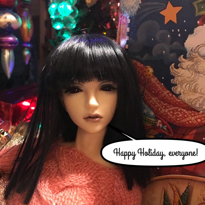 Iplehouse BJD Violet wishes Happy Holiday!