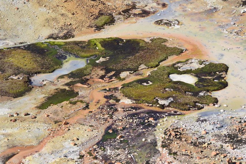 geothermal near Landmannalaugar on Laugavegur hing trail
