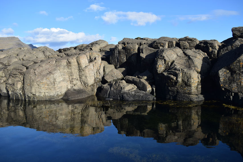reflections of rocks - East Fjords