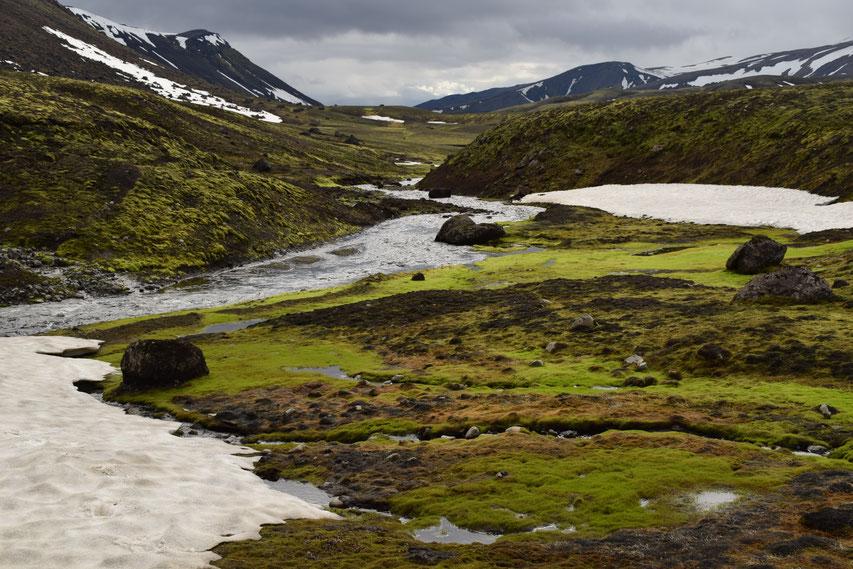 Strútsstígur hiking path, Iceland