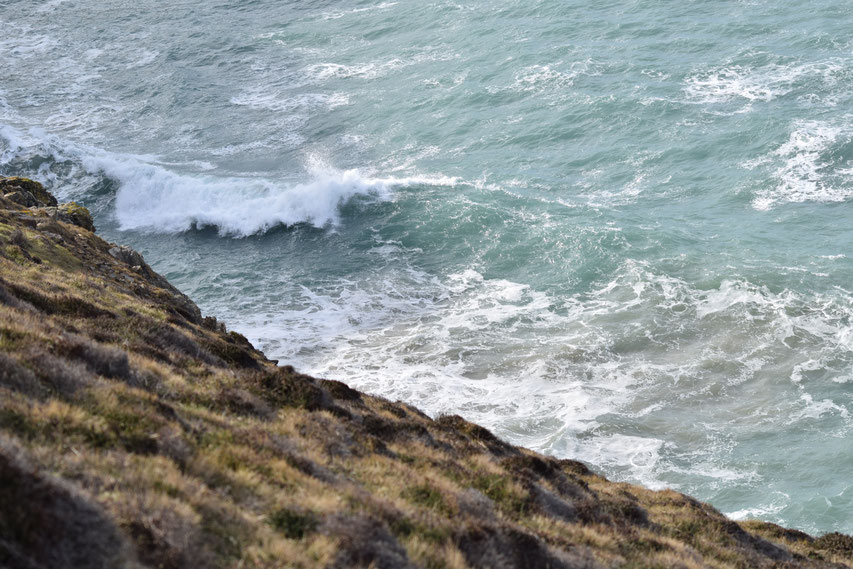 Coast Path Cornwall, steep near Pennaporth