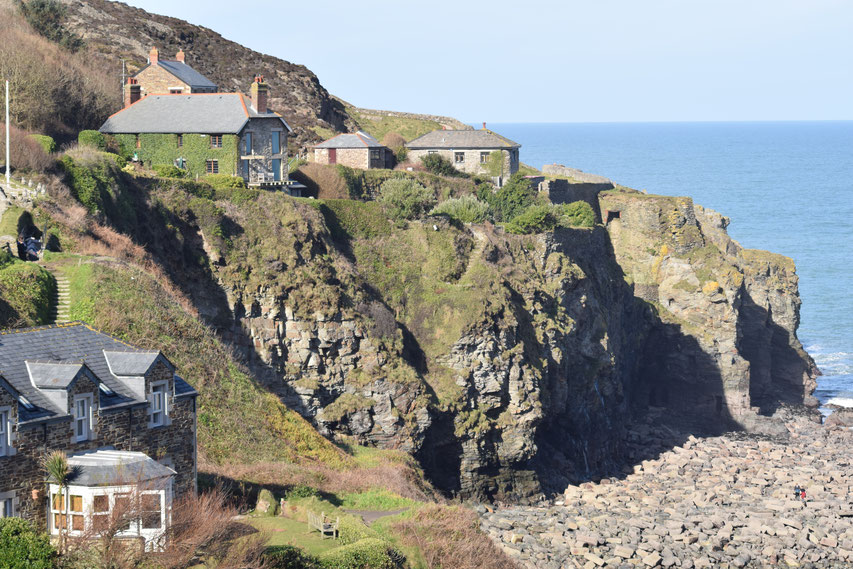 Trevaunance Cove houses, Cornwall