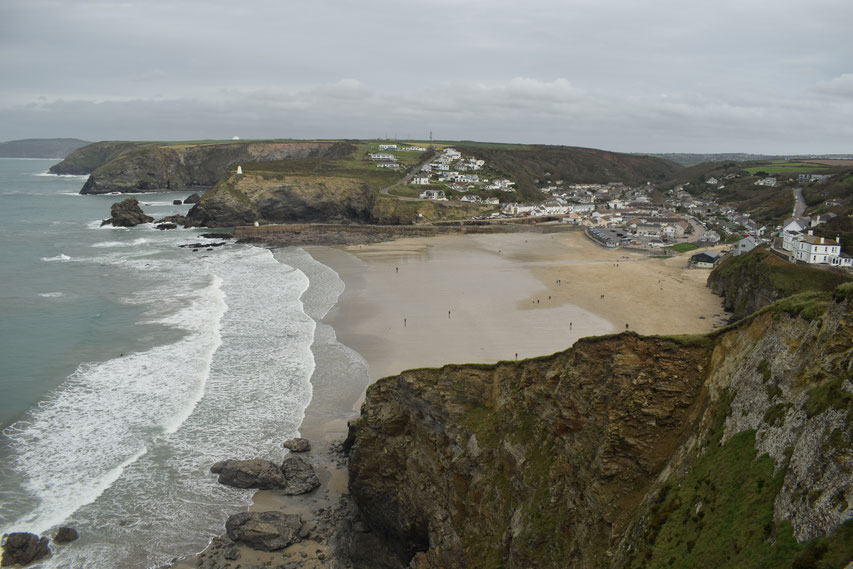 Portreath, Cornwall Coast Path in Winter