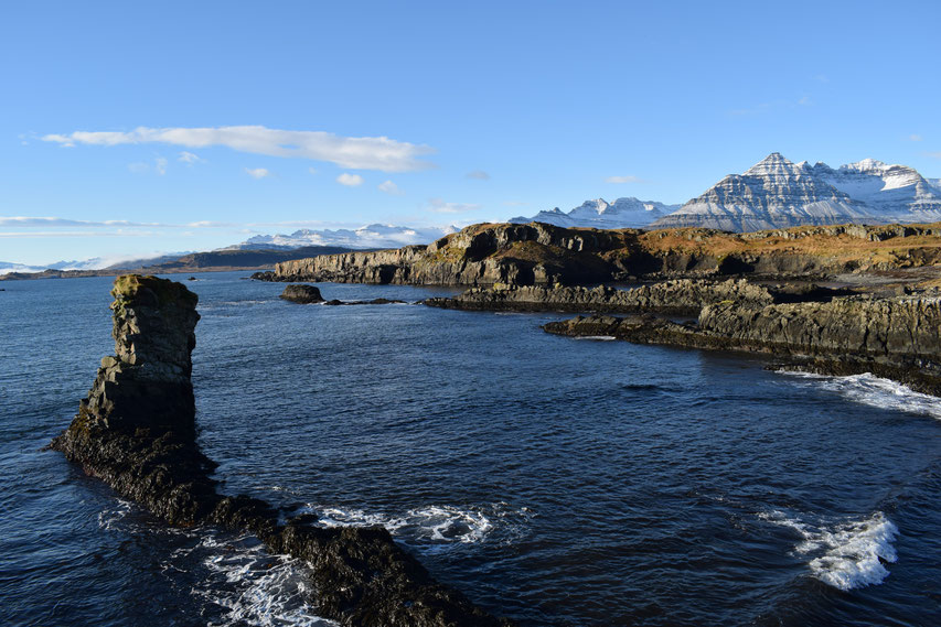 Coast and mountains, East Fjords, Iceland