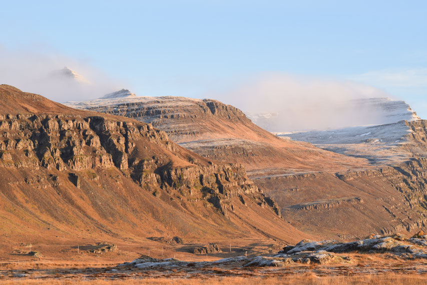 Mountains in Autumn, East Fjords, Iceland