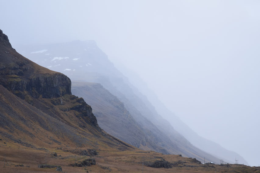 fading into the mist, East Fjords