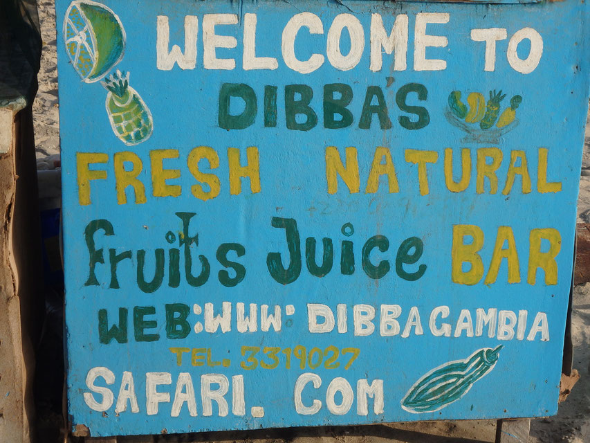 Dibba's Fresh Natural Fruit Juice Bar, Sanyang, Gambia