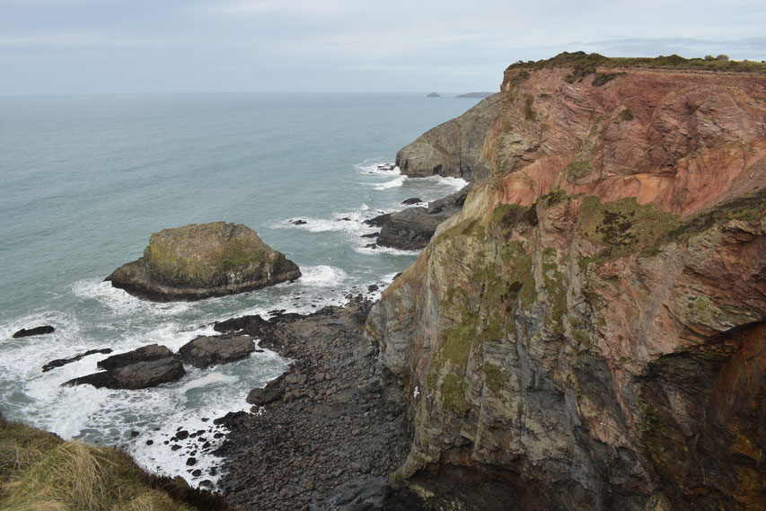 Red cliffs, Cornwall Coast Path
