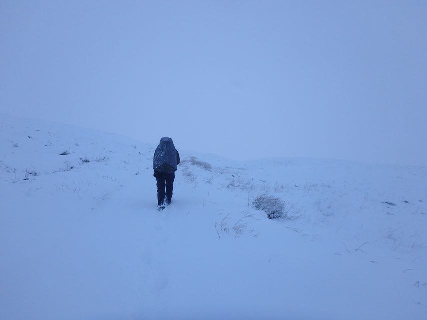 Rannoch Moor, West Highland Way, snow in December, hiking in winter