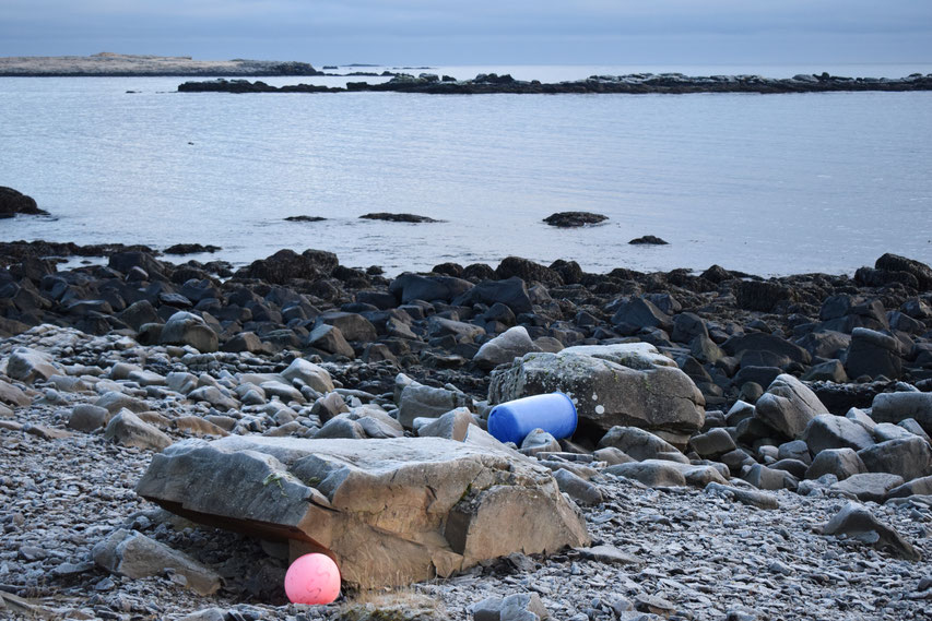 Plastic pollution, beach clean, East Fjords, Iceland