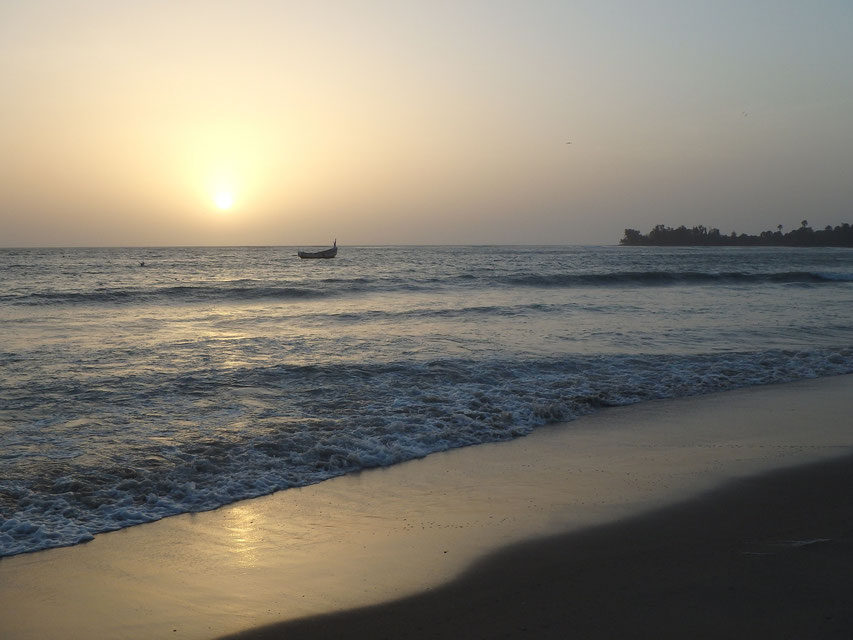 sunset on paradise beach, Sanyang, Gambia