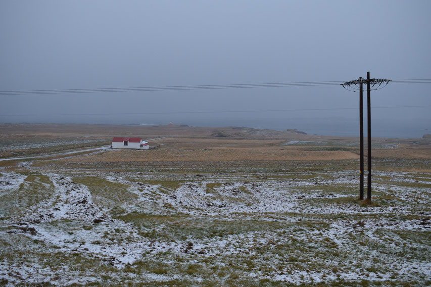 Havarí cafe and organic farm in snow
