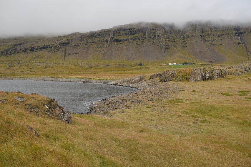 Havari Farm in fog, East Fjords, Iceland