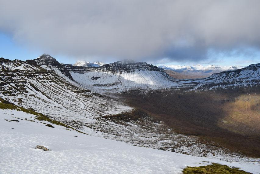 hiking East Fjords, Iceland