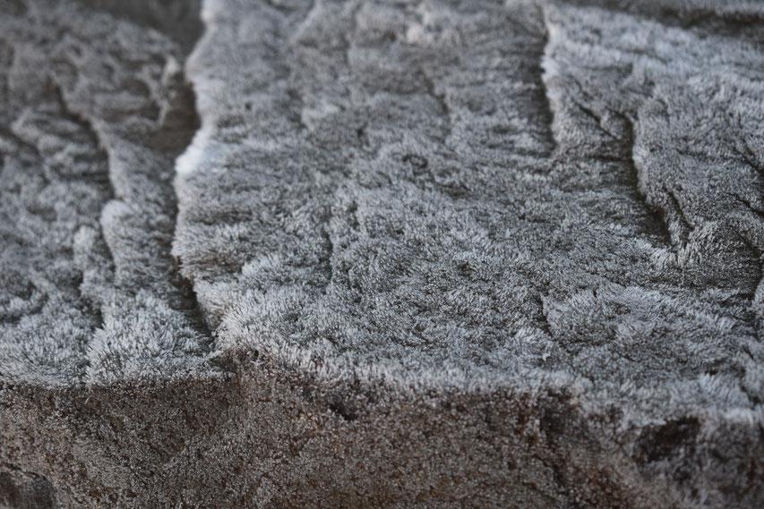 frost on rock