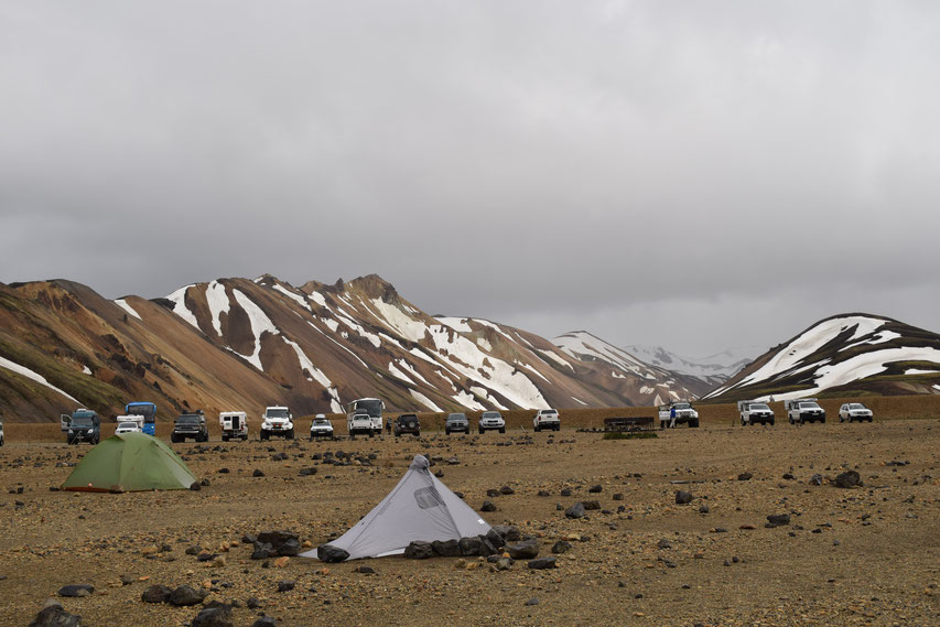 Landmannalaugar in mid June.