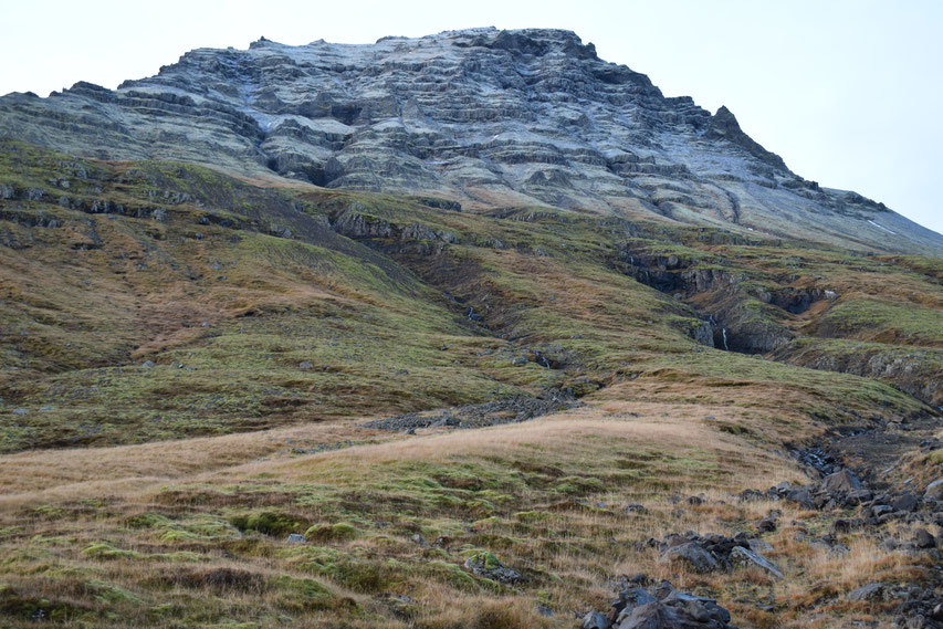 hiking in the mountains, East Fjords, Iceland