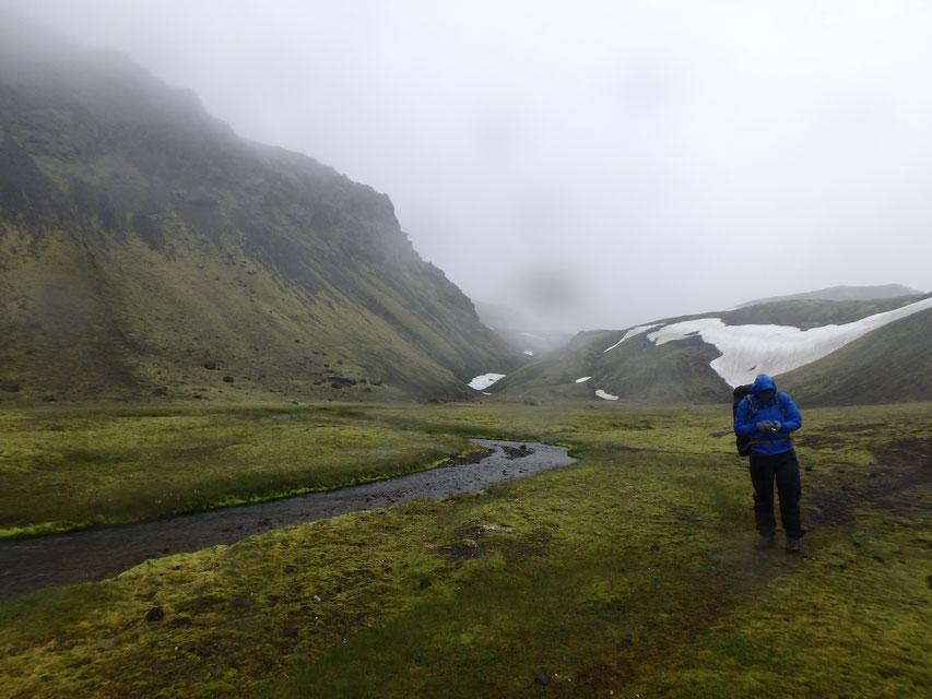 Strútsstígur hiking path GPS