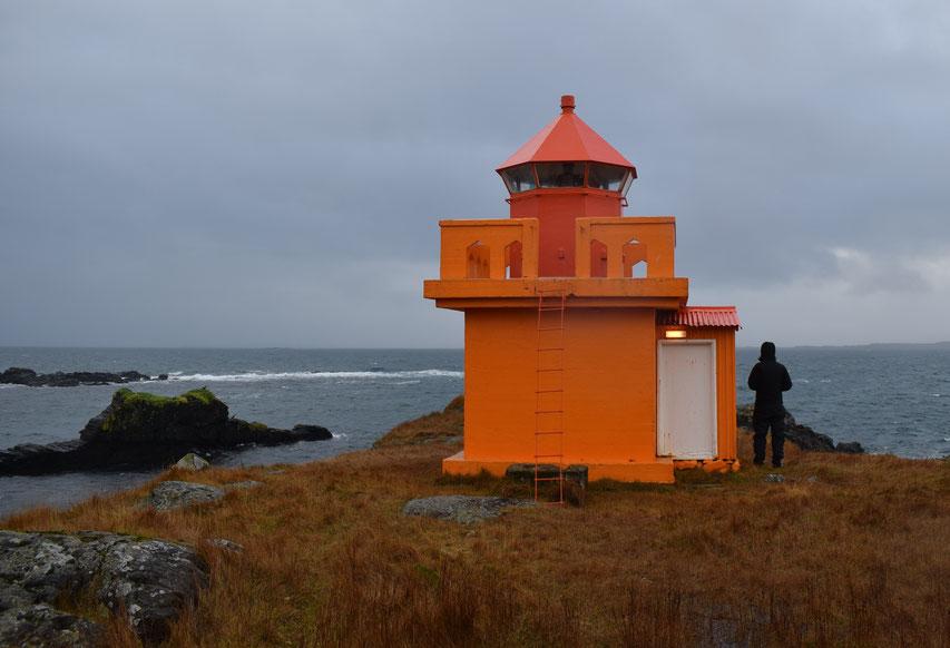 Berunesviti lighthouse, Berufjörður, East Fjords, Iceland
