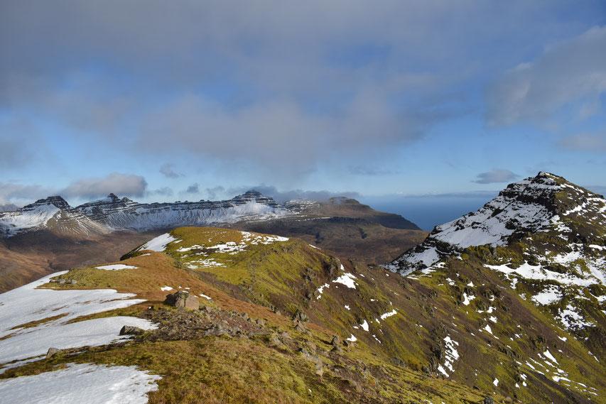 hiking, East Fjords Iceland