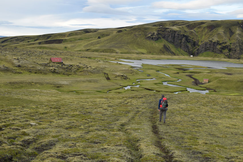 Strútsstígur hiking path Álftavötn
