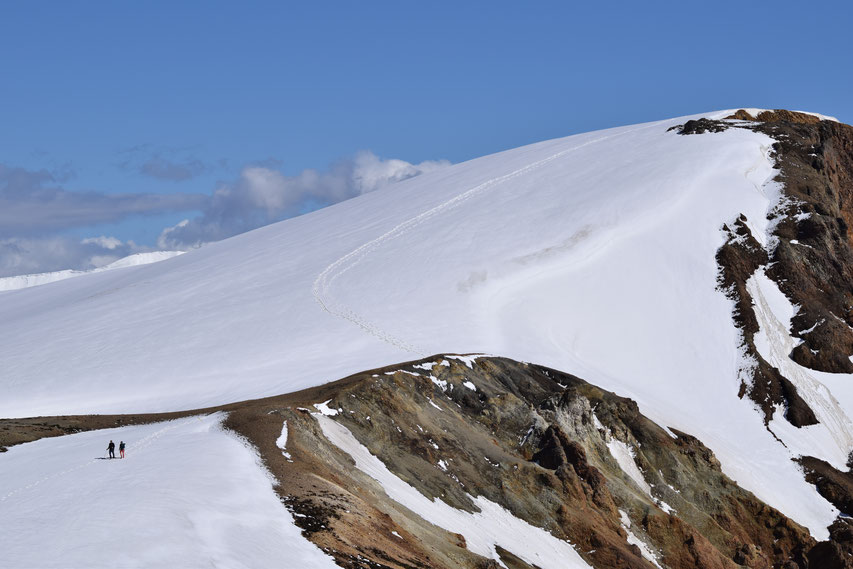 Skalli hike, Landmannalaugar snow