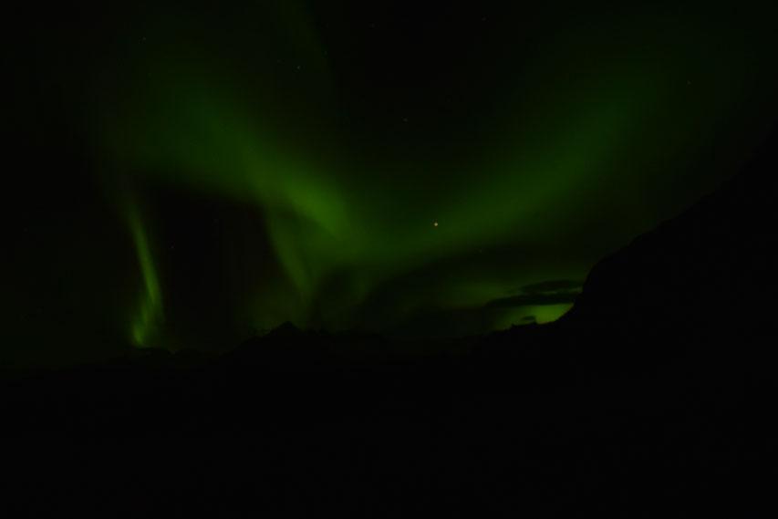 Northern lights, aurora, East Fjords