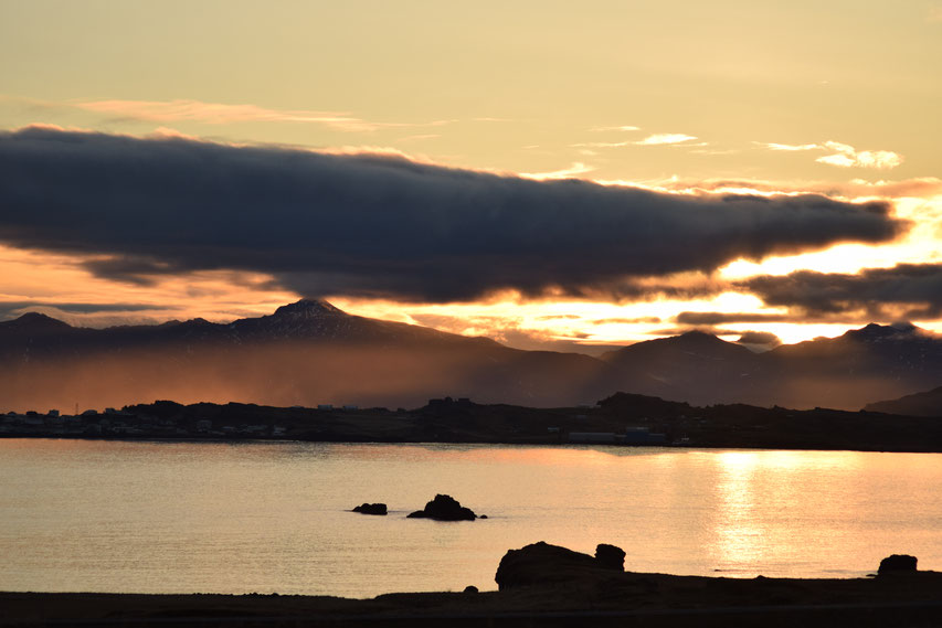 Sunset, East Fjords, Iceland