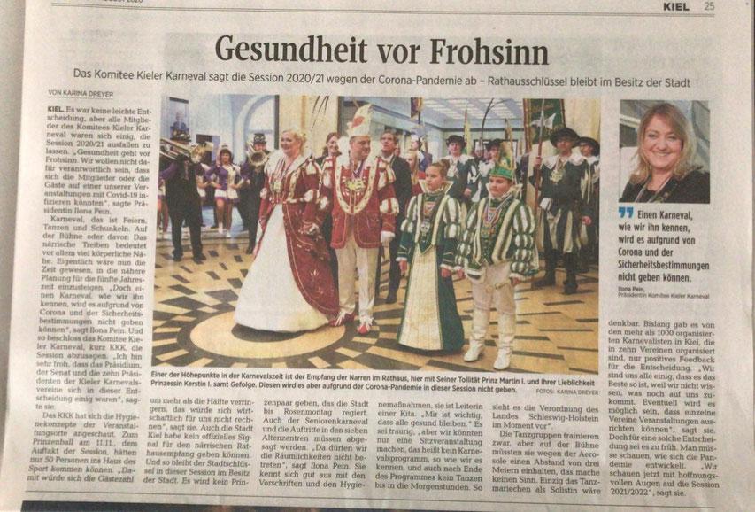 Kieler Nachrichten vom 05.08.2020