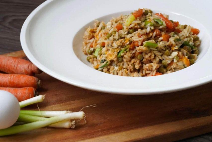 Eierreis mit Gemüse I gesund, proteinreich & lecker