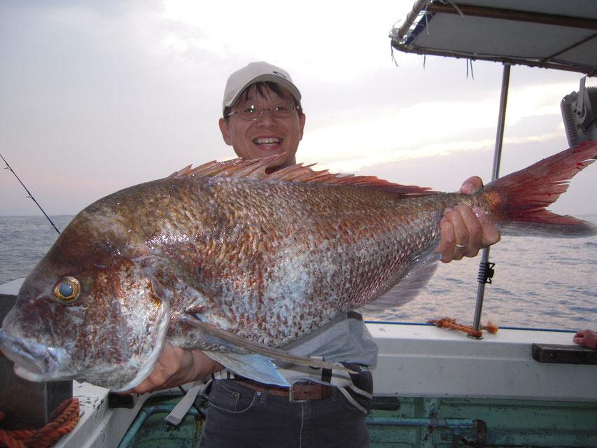 これは大物!84cm 日本海デビューらしい 明石にはいないらしい
