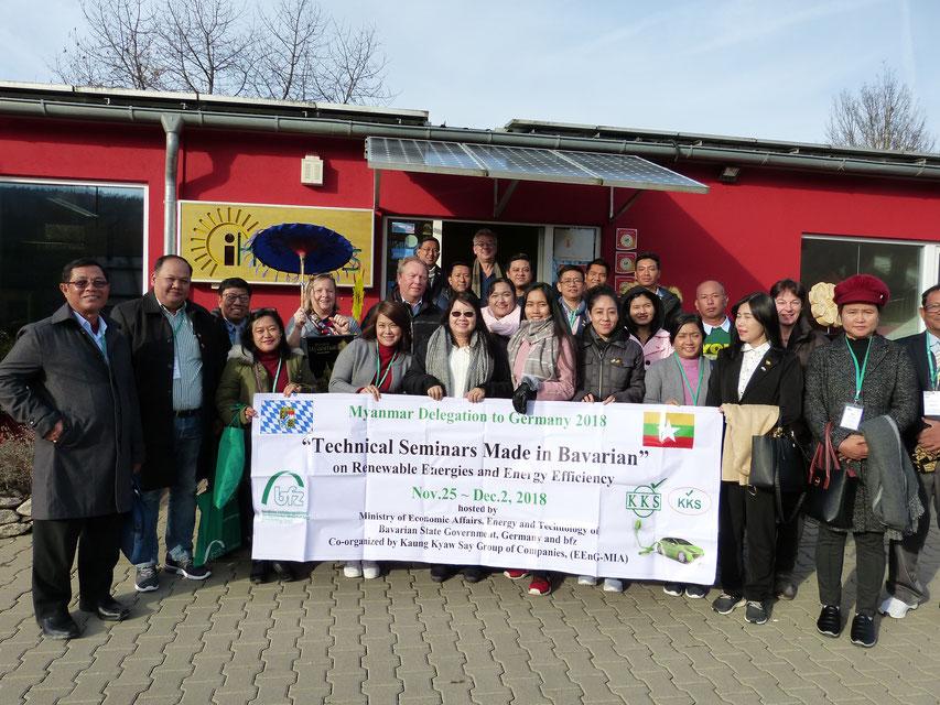 Delegation Myanmar 29.11.2018 zu Gast bei iKratos