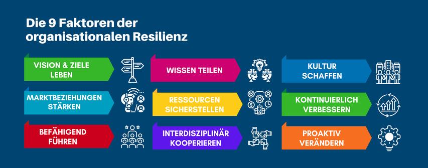 Die 9 Faktoren der organisationalen Resilienz