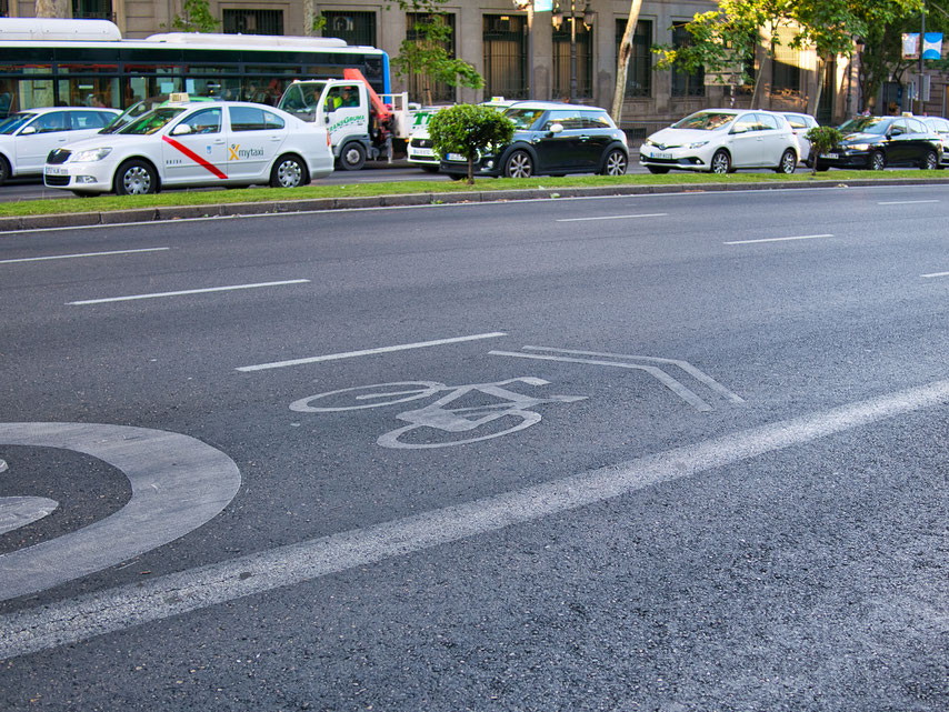 Madrid bike lane