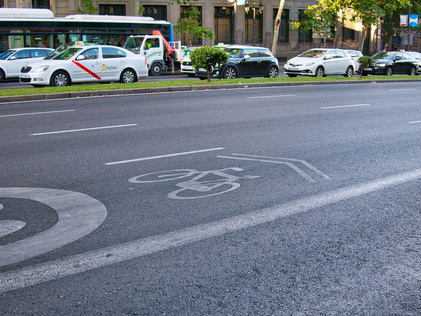 Madrid bike lane
