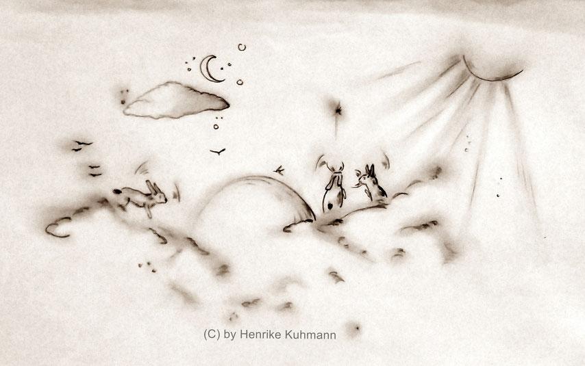 Illustration mit Bleistift