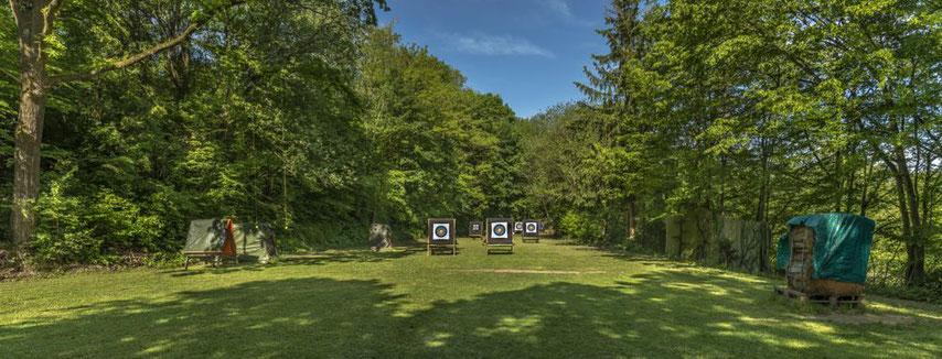 Bogenplatz und Bogenwiese mit Zielscheiben in Esslingen-Sirnau