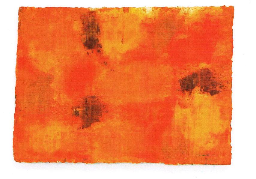 Gelbe Fläche ll, 2011, Öl auf Papier, 21 x 30 cm