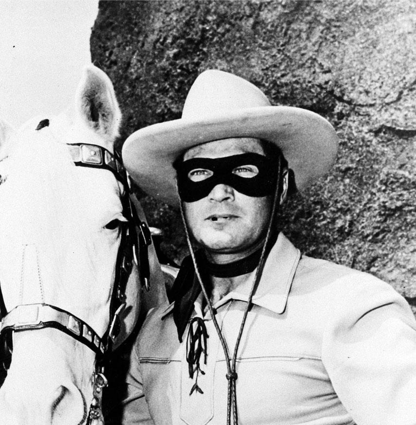 El Llanero Solitario, con Caries, su caballo.- cartoonja.com