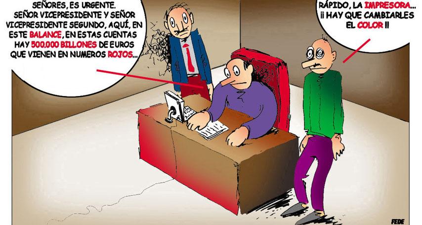 Crisis económica.-cartoonja.com
