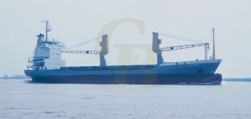 Mehrzweck-Containerschiff HELIOS, Sietas Typ 115,  Elbe 1983