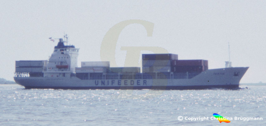 H. Peters-Werft Containerschiff TERTIA, 1986