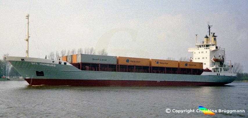 Container-Feederschiff DFL HAMBURG, Sietas Typ 83c